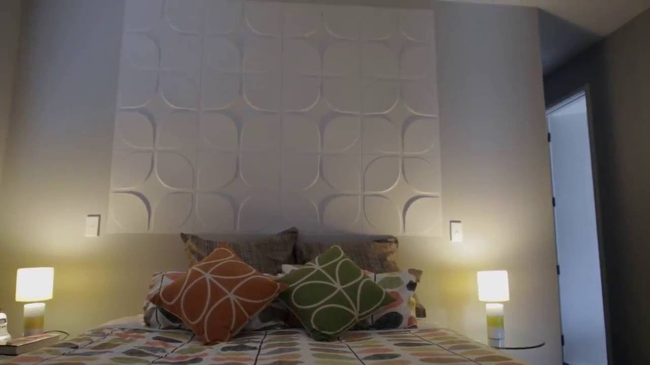 revetement mural 3d wallart youtube. Black Bedroom Furniture Sets. Home Design Ideas