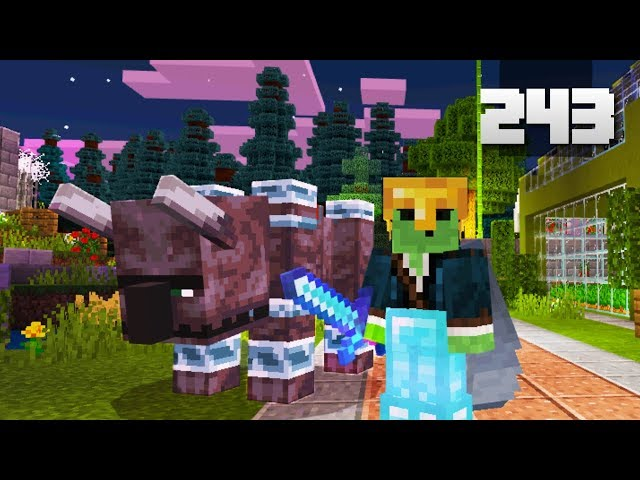 Lets Play Minecraft - Ep.243 : New Friend!/Home Gets Raided!
