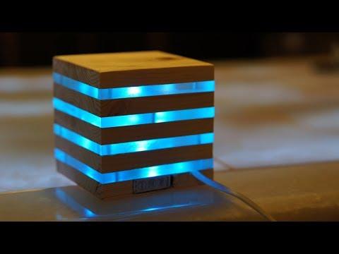 Handmade wooden iPhone Wireless Charging Station