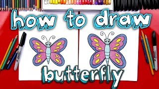 How to Draw a Butterfly ✅ Cartoon Butterfly Drawing Tutorial