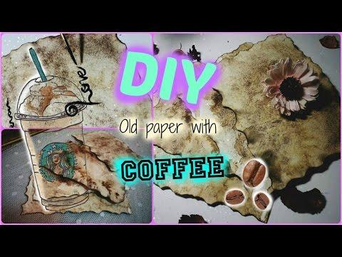 How to make old paper(DIY)//สอนทำกระดาษเก่าโบราณ
