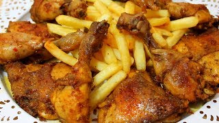 الدجاج المحمر بالفرن ( تبسي الدجاج) تتبيلة خطيرة انصحكم بتجربته