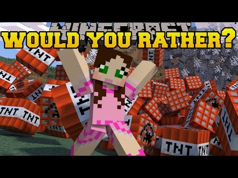 Minecraft: WOULD YOU RATHER SPECIAL! (QUESTIONS ABOUT US!) Mini-Game
