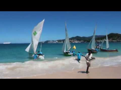 Grenada Workboats Race 2018 - starting race