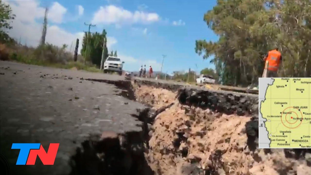 Sismo de 6.4° en San Juan   La Ruta 40 fue dañada y tiene una grieta de 3 metros de profundidad