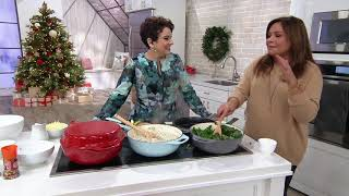 Rachael Ray 4-qt Cast Iron Chef Pan with Skillet & Wooden Spoon on QVC