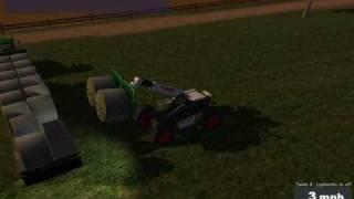 Farming simulator 2009 gold editon Bale driving