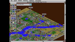 Classic Games 2: SimCity 2000 (New YouTube City Pt.9) Aaaaaand The Game Actually Crashed