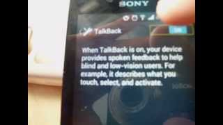 How do disable/enable TalkBack on ANY phone above 4.0(htc,sony,samsung and all the rest)