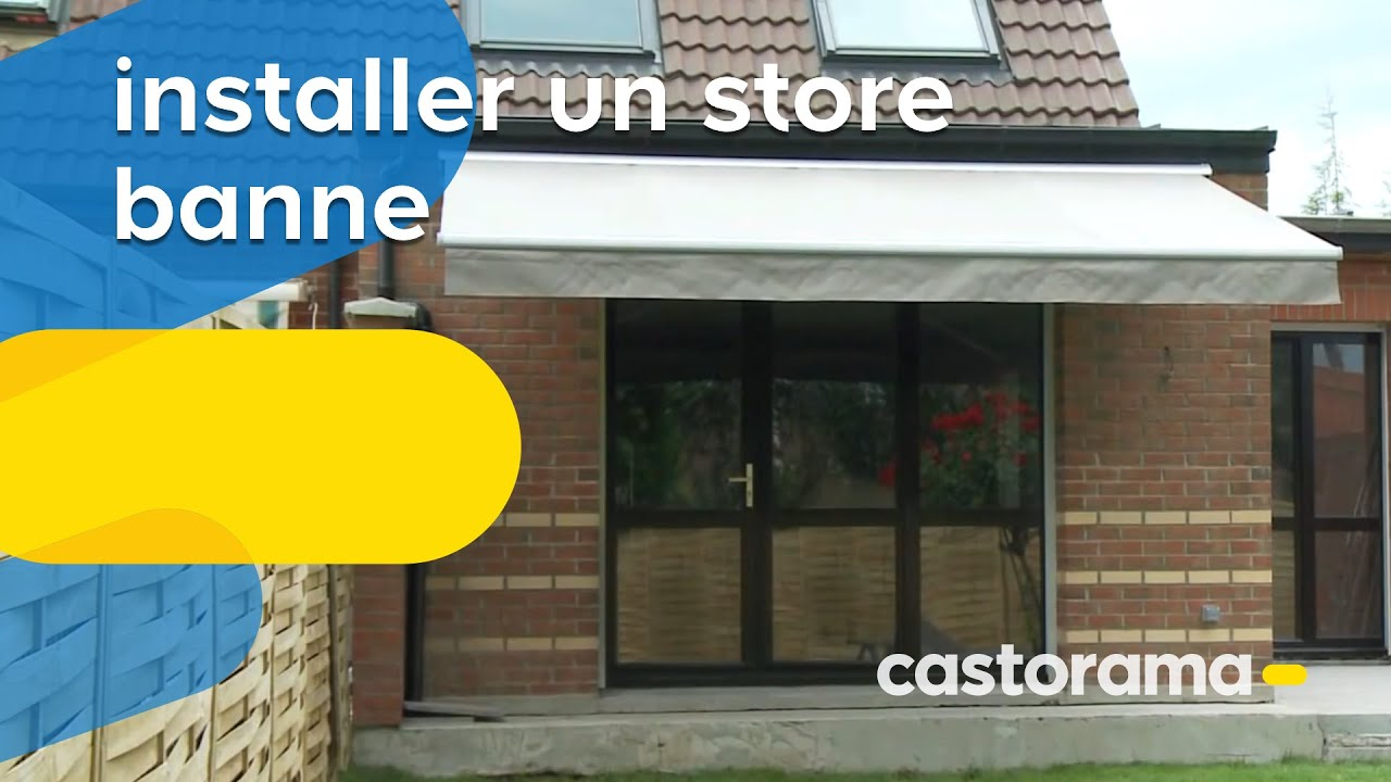 installer un store banne semi coffre lectrique avec interrupteur castorama youtube. Black Bedroom Furniture Sets. Home Design Ideas