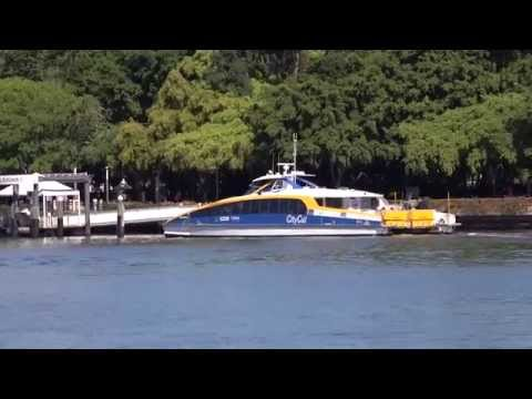 Brisbane Citycat Going from North Quay to South Bank in 4K