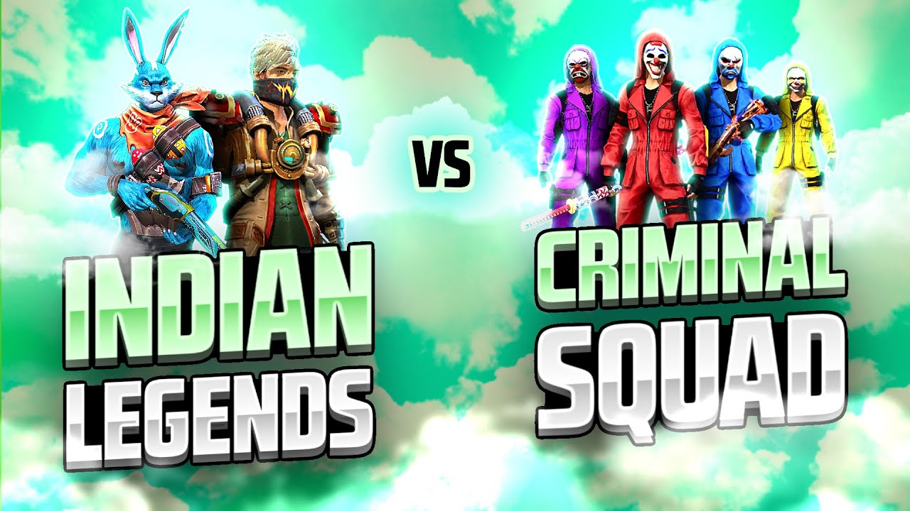 Indian Legends 🇮🇳  Vs Criminal Squad 😱 || Free Fire Insane Clash Squad Match - Garena Free Fire