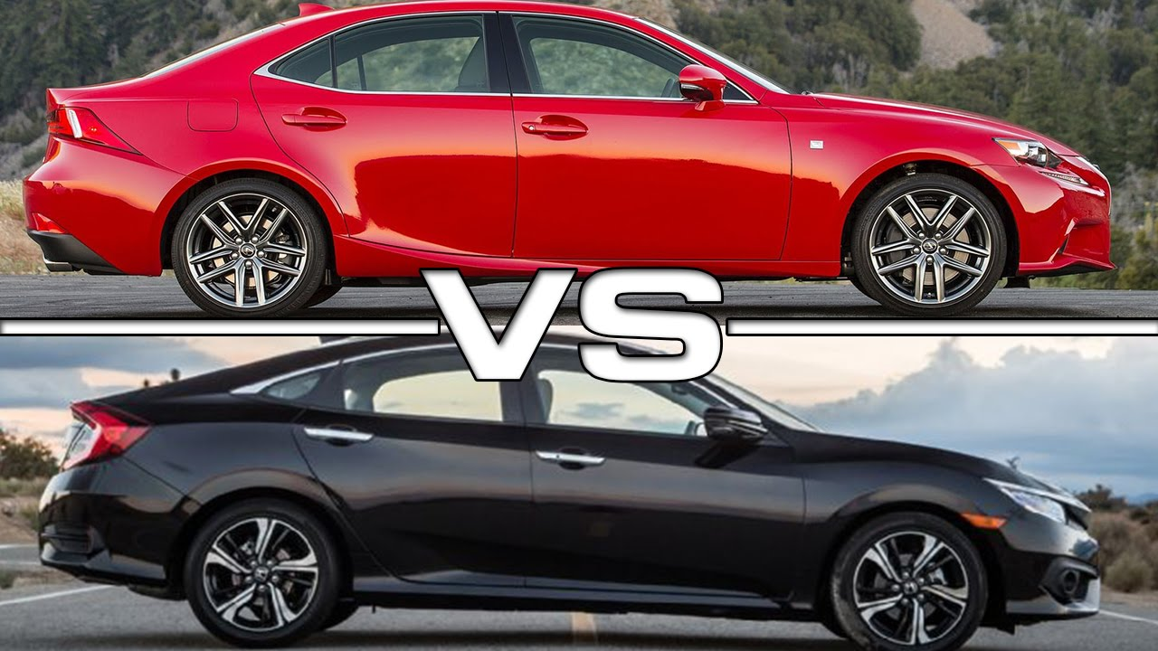 Corolla Vs Civic >> 2016 Lexus IS 200t vs 2016 Honda Civic - YouTube