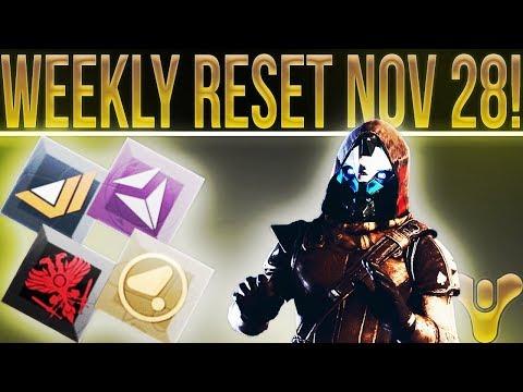 Destiny 2 Weekly Reset Nov 28! New Content Reveal, Live Stream, Nightfall, Weekly Milestones & More!