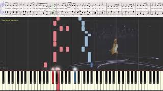 Синий иней (Синяя песня) (Easy)(Ноты и Видеоурок для фортепиано) (piano cover)
