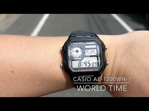 CASIO JAPAN AE-1200WH-1AWorld Time/10year battery/100M Water resistance