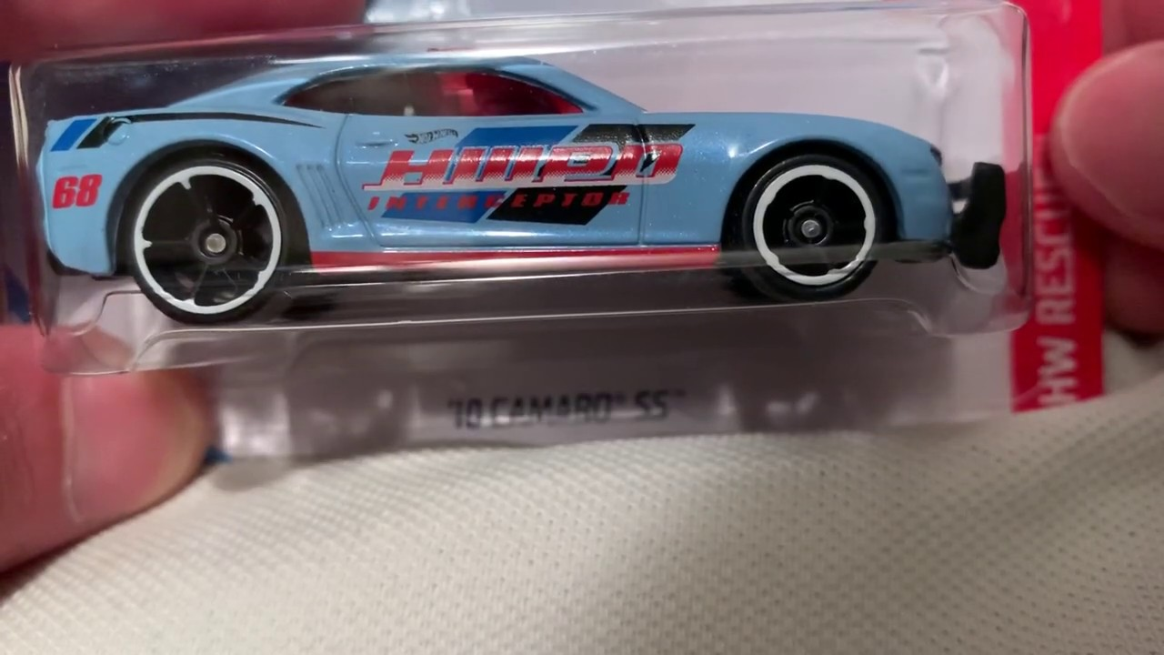 Hot Wheels 2010 Camaro SS with Light Bar (2019 HW Rescue | Light Blue Recolor)