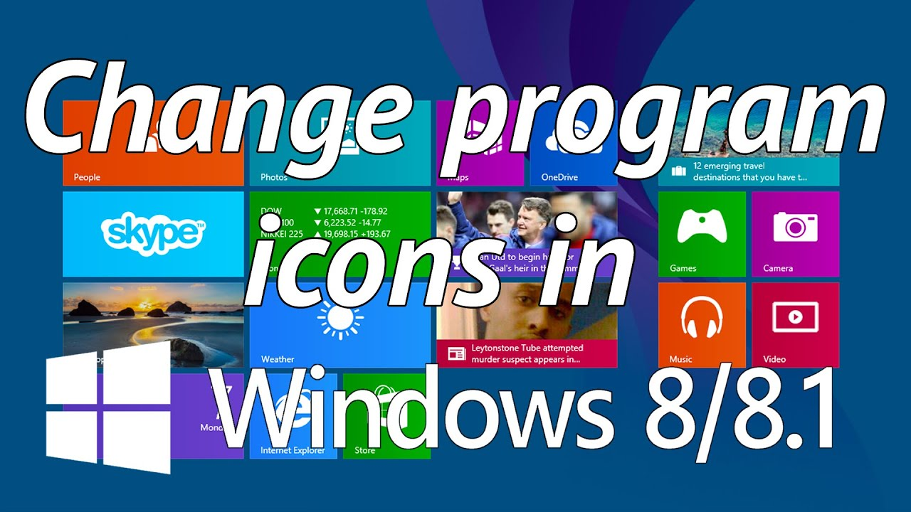 change program icon windows 8