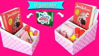 DIY- Caixa Organizadora Feito Com Caixa de Sabão em Pó | Viviane Magalhães