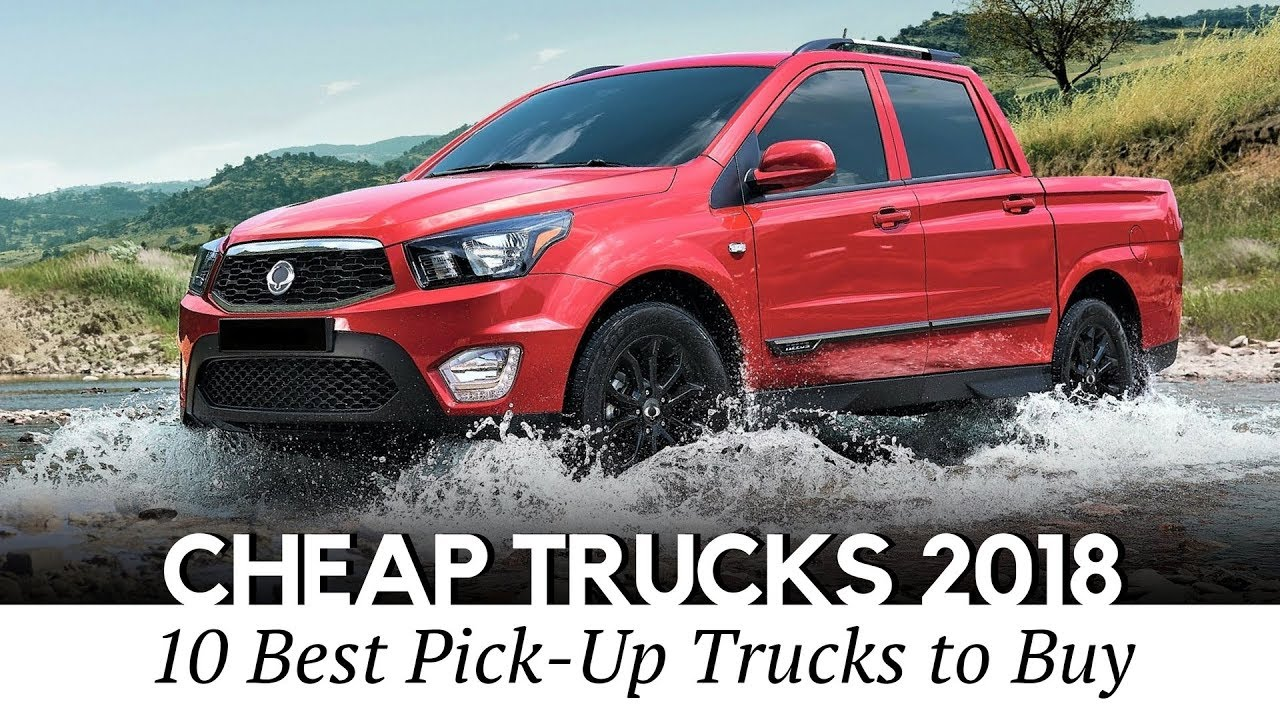 10 cheapest pickup trucks you can buy in 2018 interior and exterior youtube. Black Bedroom Furniture Sets. Home Design Ideas