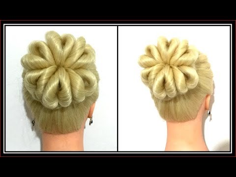 amazing-so-easy-flower-bun-hairstyle-/-hairglamour-styles-/-hair-tutorials