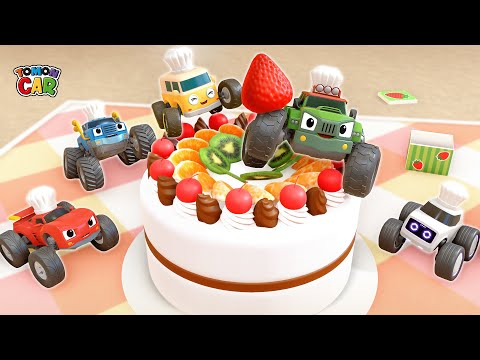 Today I Am A Cook! | Making Cake With Friends | Kids Songs Cartoon For Kids Tomoncar World