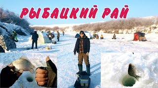 Зимняя рыбалка на карася | Попали в РЫБАЦКИЙ РАЙ!!! | Ice fishing