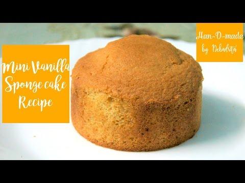 MINI VANILLA SPONGE CAKE FOOLPROOF RECIPE |How To Make Basic Sponge Cake| HAN-D-MADE By Debadrita