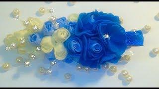Как сделать заколку  из фоамирана Цветы из фоамирана Бутоны роз для заколки