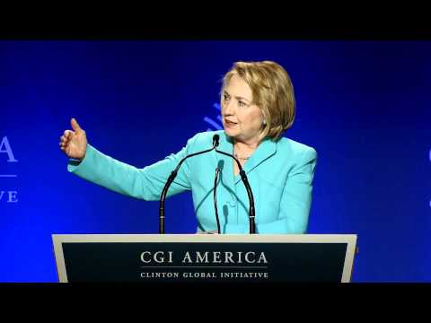 Former Secretary of State Hillary Clinton's Opening Remarks at CGI America 2013