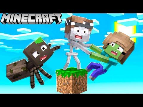 Wir sind MONSTER und ÜBERLEBEN auf 1 BLOCK in Minecraft!