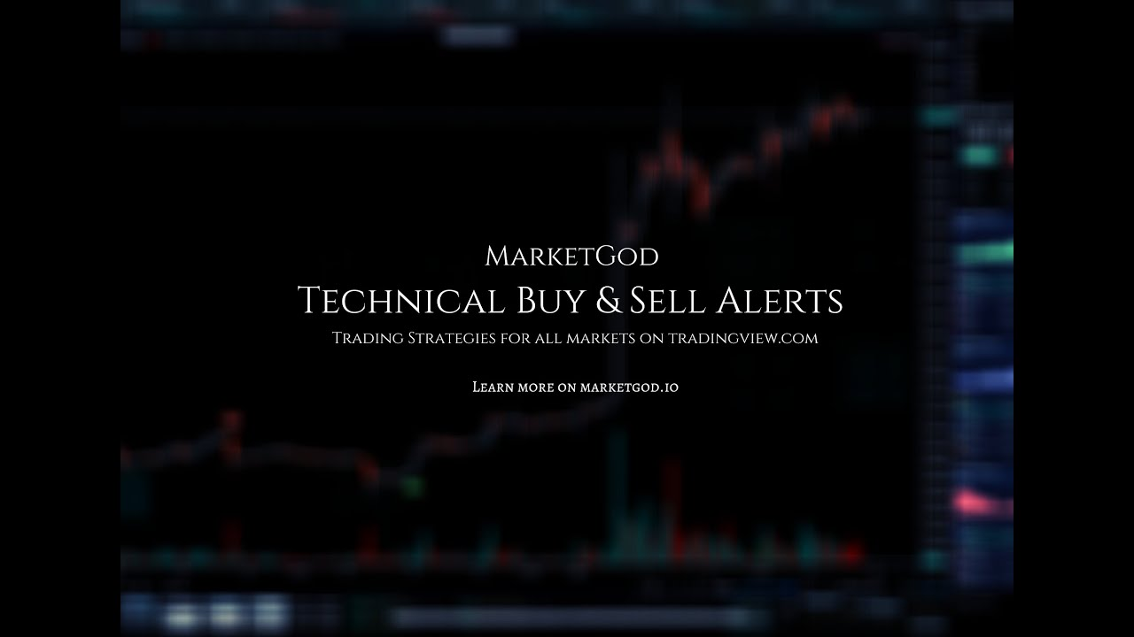 Setting Buy and Sell Alerts on Tradingview Charts with the MarketGod Buy & Sell Indicator