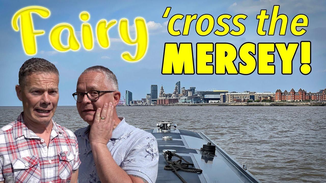 RISKY! Narrowboat across the DANGEROUS River Mersey!