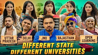 Different State Different Universities - Amit Bhadana ( Delhi ,UP,  Rajasthan, JNU, Open Learning )