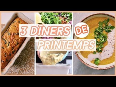 😋🌸recettes-de-printemps-//-3-dîners-lÉgers-et-gourmands