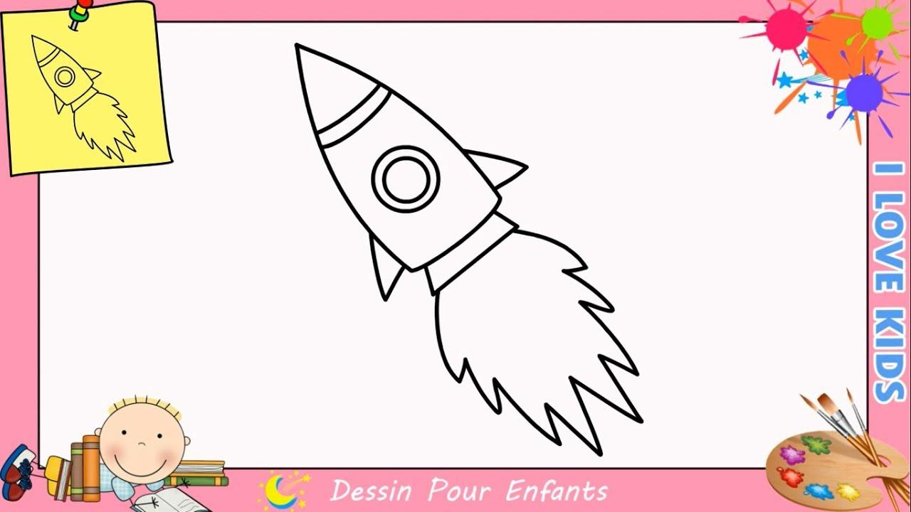 Comment dessiner une fus e facilement etape par etape pour enfants 4 youtube - Dessiner une fusee ...