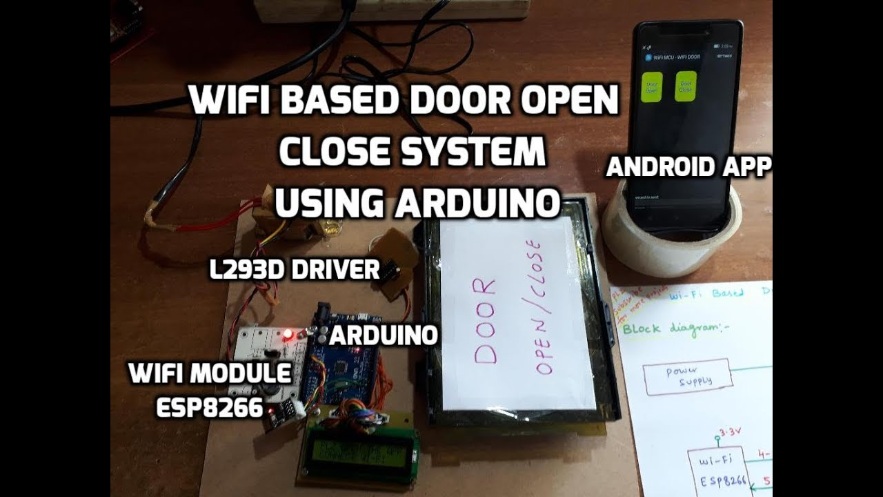 Wifi Based Door Open Close System Using Arduino Android