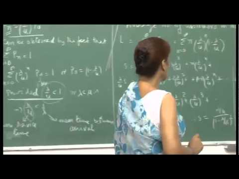 Mod-01 Lec-34 Queuing Models: M/M/I, Birth and death process, Little's formulae