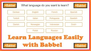 Learn Languages Easily with Babbel