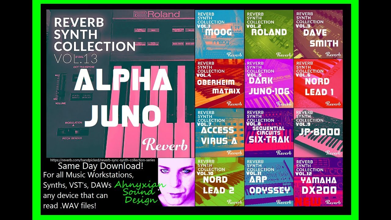 reverb roland alpha juno synth collection sample pack wav synthesizer rik marston youtube. Black Bedroom Furniture Sets. Home Design Ideas