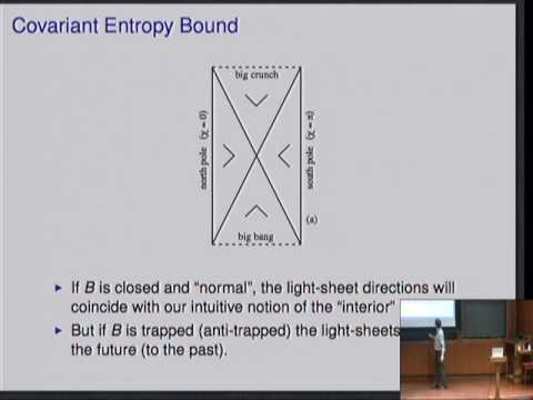 Entropy Bounds, Light-sheets, and the Holographic Principle in Cosmology, part 1 - Raphael Bousso