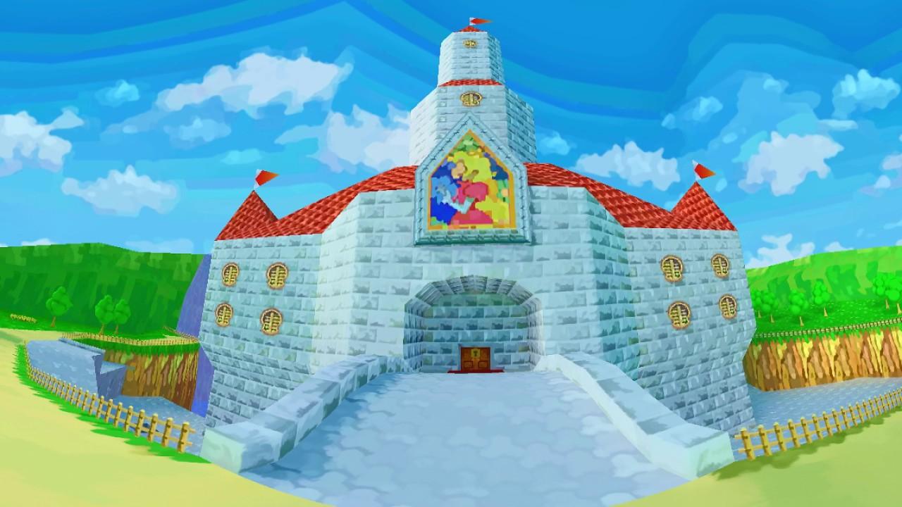 Super Mario 64 Peach's Castle -Repainted- 360° VR