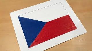 Czech Flag Drawing 🇨🇿
