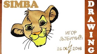 How to Draw SIMBA from Lion King Easy for Kids and color | Young Simba | #MrUsegoodART
