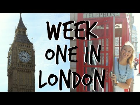 STUDYING ABROAD IN LONDON || Week #1 Vlog