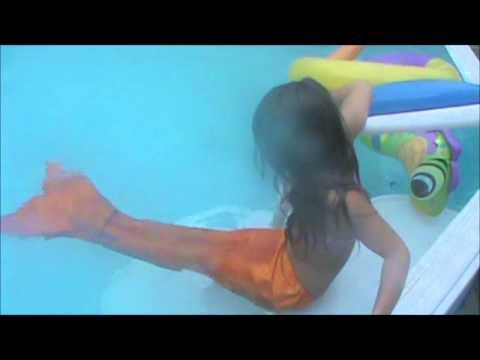 Grace S Homemade Mermaid Tail Youtube