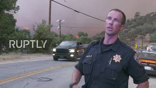 USA: Emergency forces dispatched in LA County as Lake Hughes fire rages on