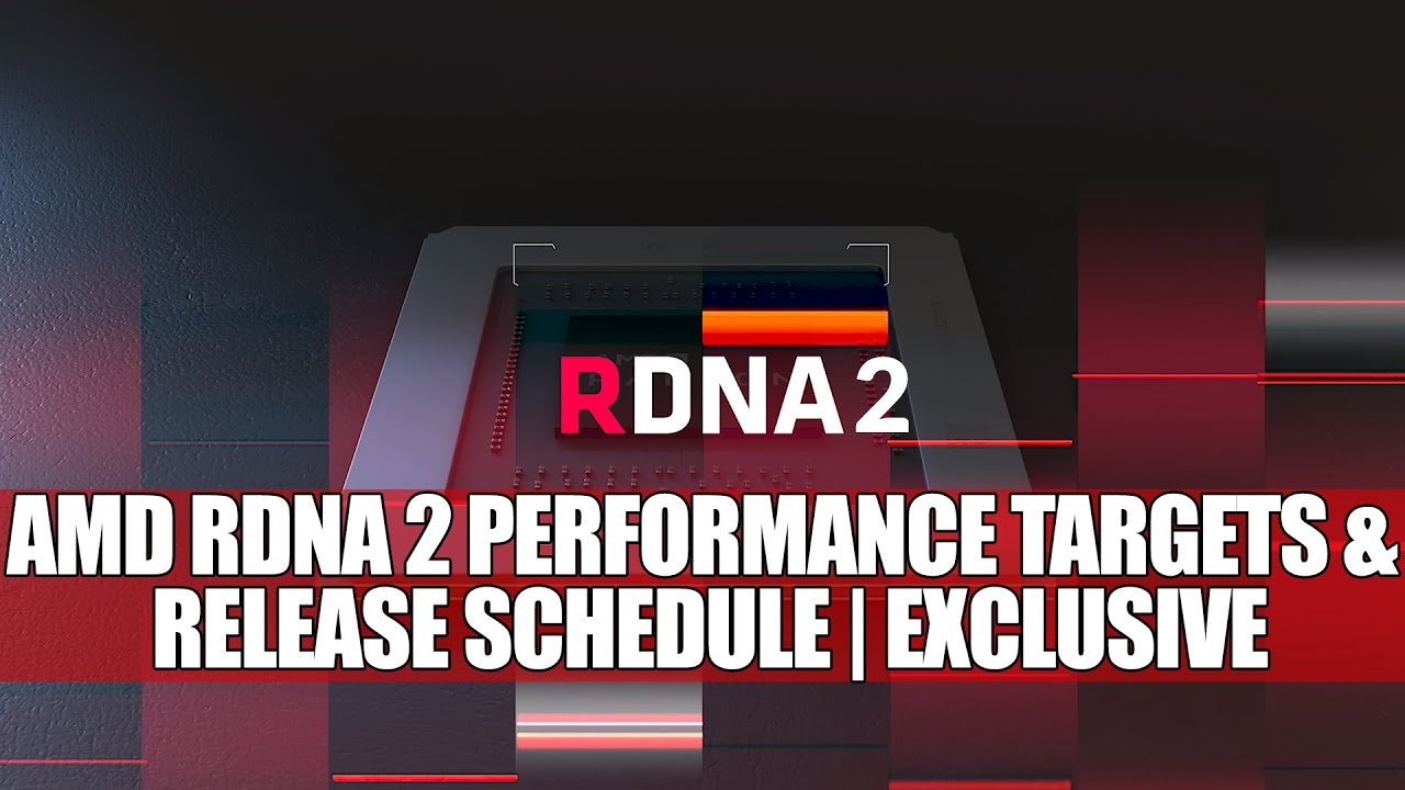 Amd Rdna 2 Performance Targets Release Schedule Exclusive Youtube