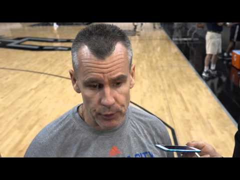 Billy Donovan at Shootaround