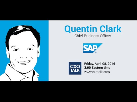 #166: Innovating Platforms, Data, and Internet of Things, with Quentin Clark, SAP
